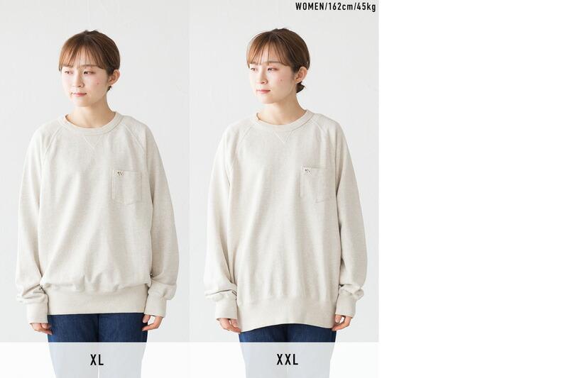 XL、XXLサイズを女性モデルが着用